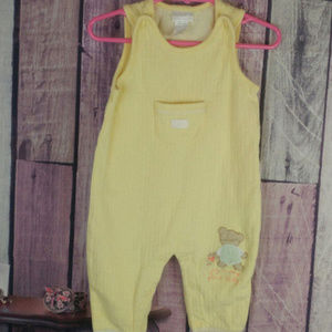 boys carters yellow bear overalls 3-6 month M47